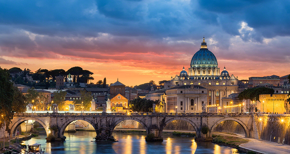 saint peters basilica sunset