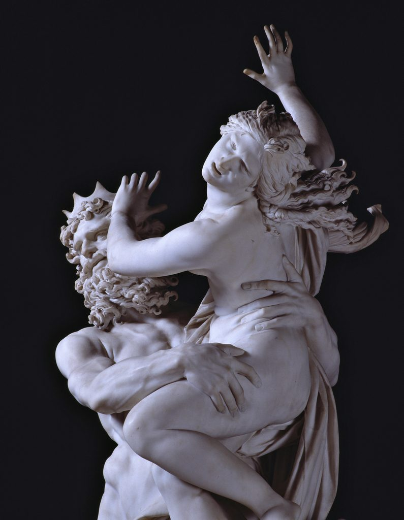 rape of Proserpina by Bernini at the Borghese Gallery