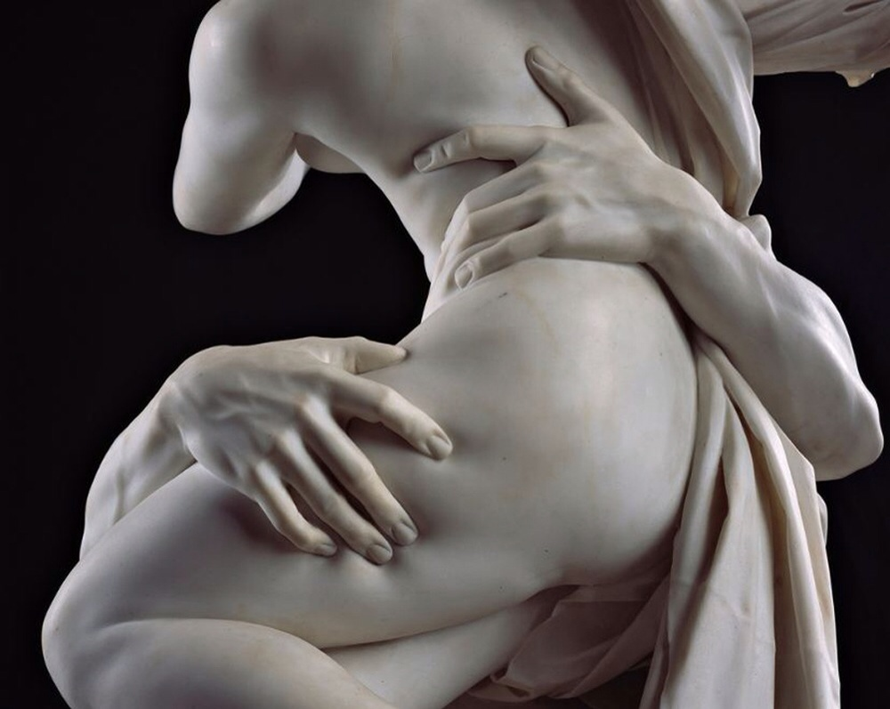 The rape of Proserpina by Bernini, detail
