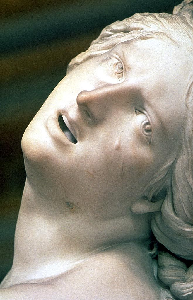 Proserpina's face and tears by Bernini